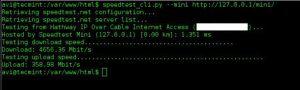 تست سرعت اینترنت CentOS 7